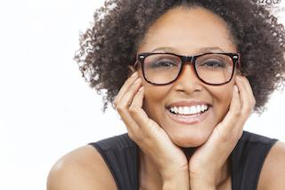 Smiling Woman with Glasses | Cosmetic Dentist Barrie ON
