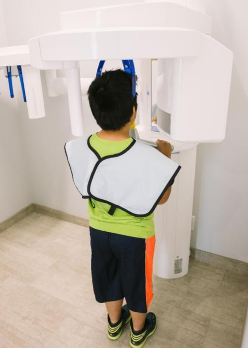 Child getting dental x-ray | Dentist Barrie ON