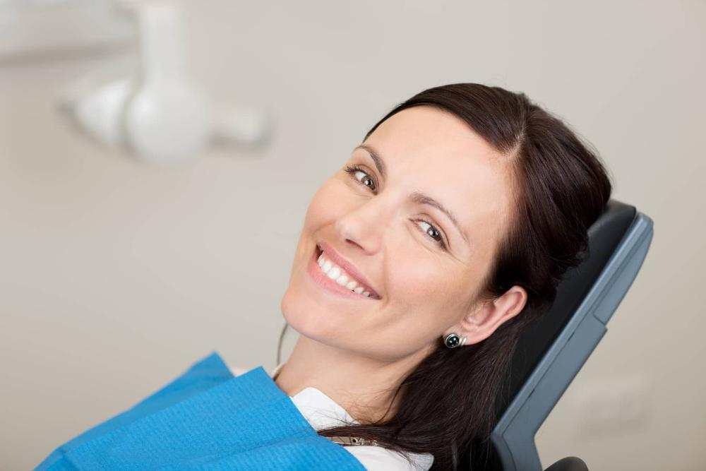 Woman in dental chair | Barrie ON dentist