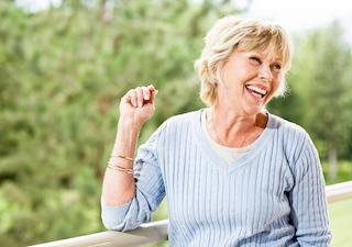 Older woman smiling | Dentist Barrie ON