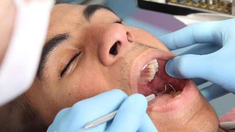 Man getting dental work | Dentist Barrie ON